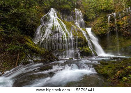 Panther Creek Falls in Gifford Pinchot National Forest Washington State