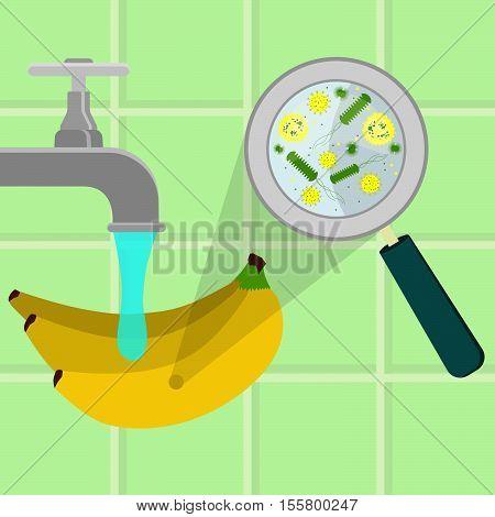 Washing Contaminated Banana