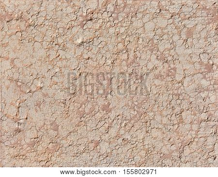 Old pink Istrian stone wall as background in Venice
