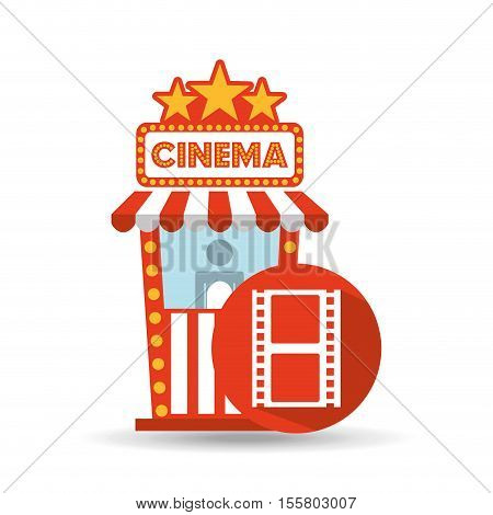 cinema movie ticket office. film strip graphic vector illustration eps 10
