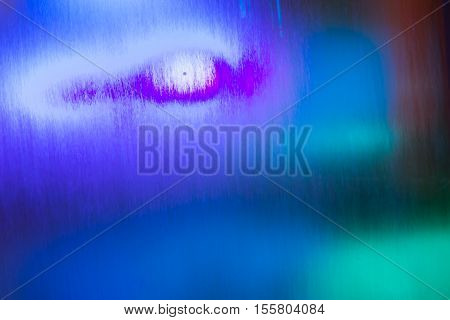 view of amazing abstract colorful watery background with mystique animal eye and various lights going through flowing water