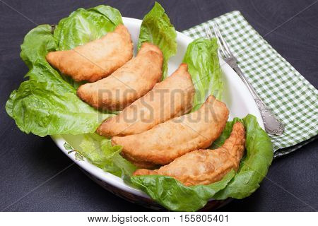Panzerotti With Cheese And Salami