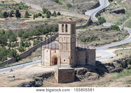 Veracruz medieval church ancient templar church in Segovia Spain.