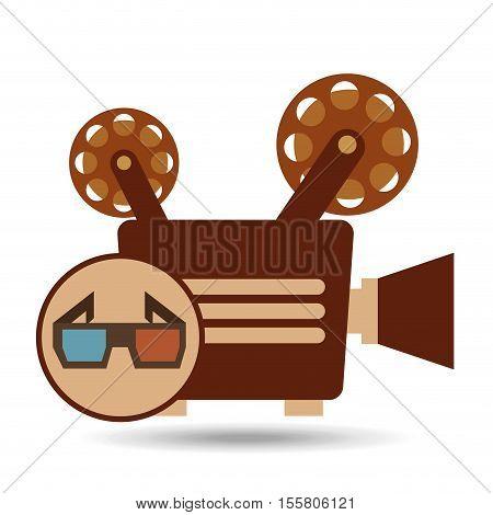 camera movie vintage glasses icon design vector illustration eps 10