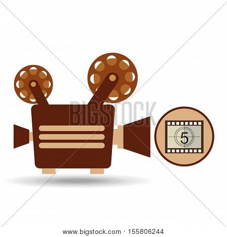 camera movie vintage counting strip design vector illustration eps 10