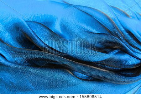 close up of the wavy organza fabric