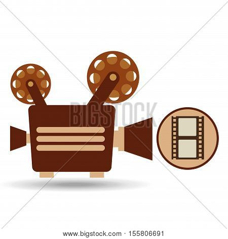 camera movie vintage strip film icon design vector illustration eps 10