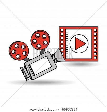 concept cinema camera film strip design vector illustration eps 10