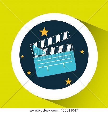 concept cinema theater clapper graphic design vector illustration eps 10