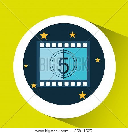 concept cinema theater strip counting graphic design vector illustration eps 10