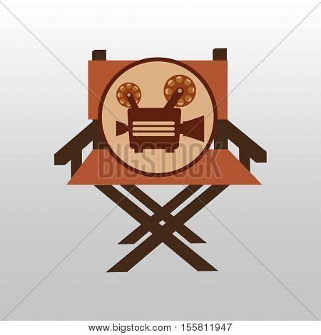 camera movie vintage chair icon design vector illustration eps 10