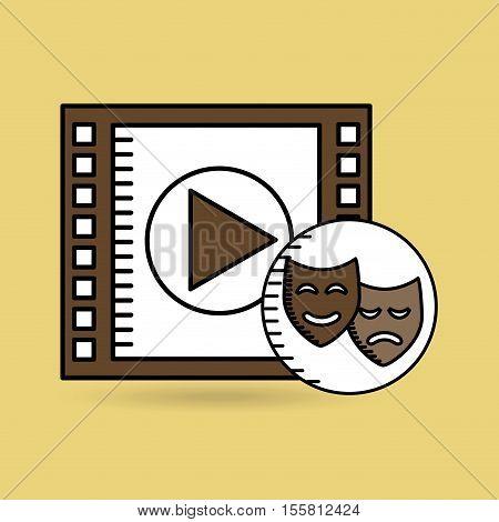 strip film play movie hand design vector illustration eps 10