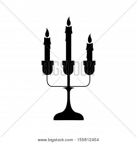 chandelier with candles icon image vector illustration  design