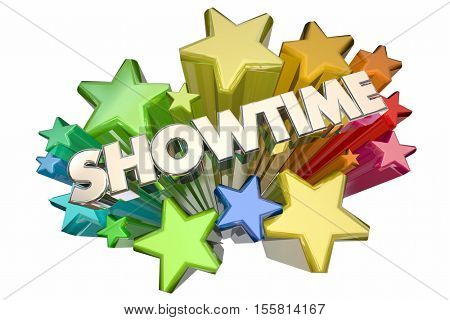 Showtime Event Starting Begin New Premiere Stars 3d Illustration
