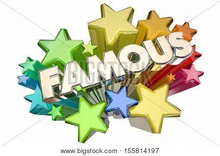 Famous Celebrity Fame Stars VIP Event 3d Illustration
