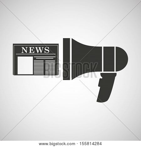 megaphone speaker news icon graphic vector illustration eps 10