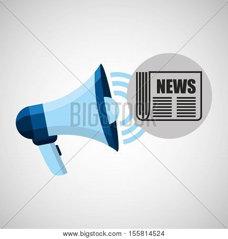megaphone concept news journal design vector illustration eps 10