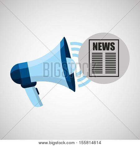 megaphone concept news template design vector illustration eps 10