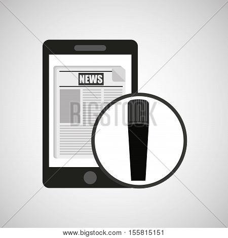 smartphone digital news online design vector illustration eps 10