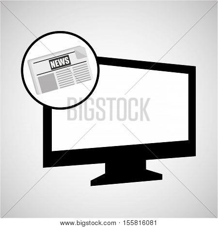 computer news journal graphic vector illustration eps 10