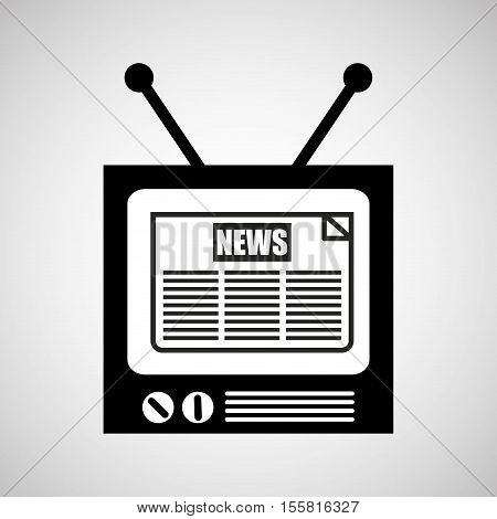 tv vintange news icon graphic vector illustration eps 10