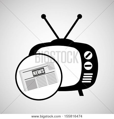concept news tv retro icon graphic vector illustration eps 10
