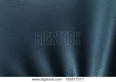 Leather texture or leather background from natural leather sheet for design with copy space for text or image. Closeup detail on leather texture background.