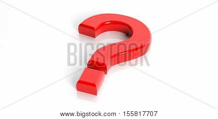 3D Rendering Red Question Mark