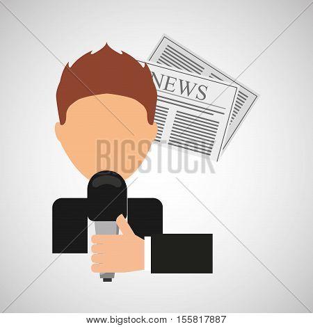 innterviewed news microphone paper design vector illustration eps 10