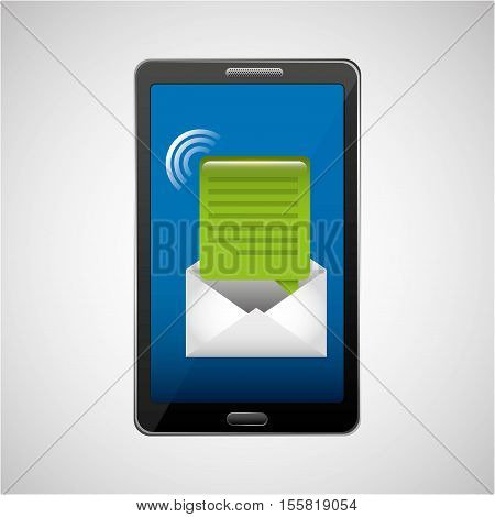 mobile cellphone email message icon vector illustration eps 10