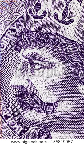 photographed close up bill costing twenty zloty
