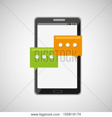 mobile cellphone social chat icon vector illustration eps 10