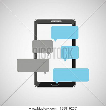 mobile cellphone dialogue talk icon vector illustration eps 10
