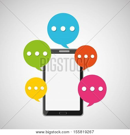mobile smartphone bubble speech icon vector illustration eps 10