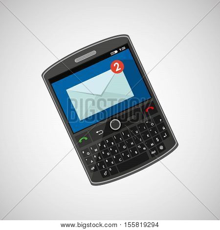 mobile cellphone receive message icon vector illustration eps 10