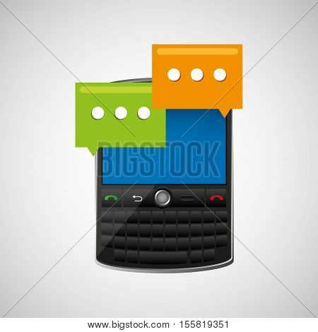 concept email cellphone chat bubble icon vector illustration eps 10
