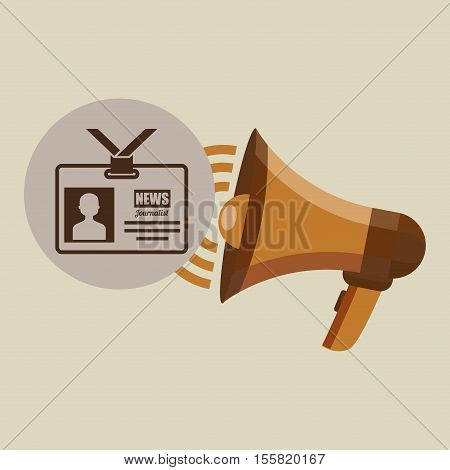 megaphone concept tv news design vector illustration eps 10
