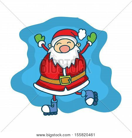 Happy Santa Claus Cartoon collection stock vector art
