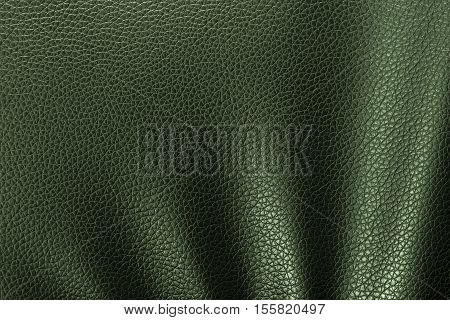 Leather texture or leather background from natural leather sheet for design with copy space for text or image. Closeup detail on leather texture background. Dark edged.
