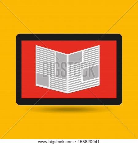 reading news smartphone icon vector illustration eps 10