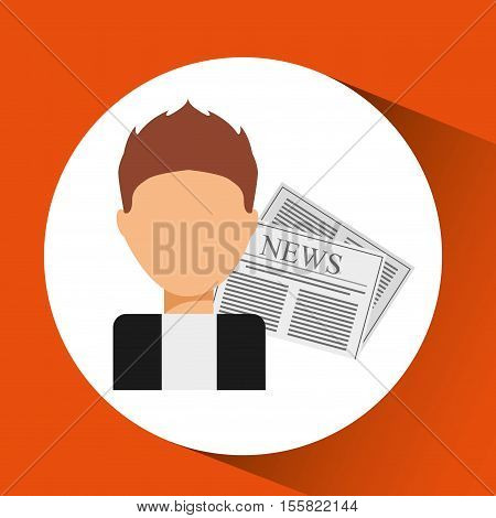 innterviewed news microphone paper design vector illustration eps 10