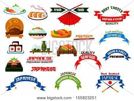 Japanese Cuisine Signs Set Sushi Vector Photo Bigstock