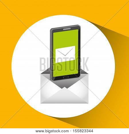mobile cellphone email message send icon vector illustration eps 10