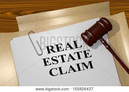 Real Estate Claim Concept