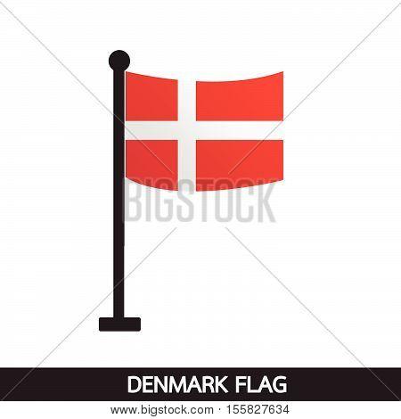 an images of Denmark flag design illustration poster