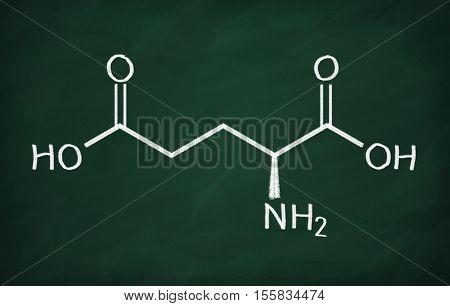 Structural Model Of Glutamic Acid