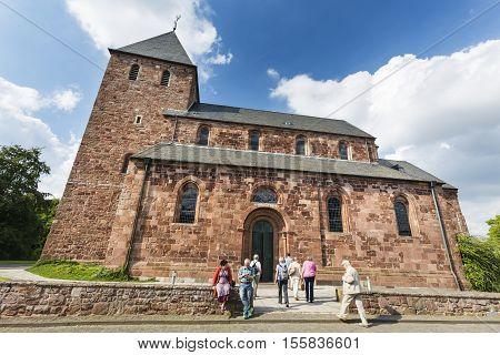 Nideggen Church In The Eifel, Germany, Editorial