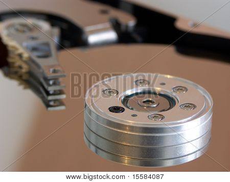 details of an internal computer hard drive