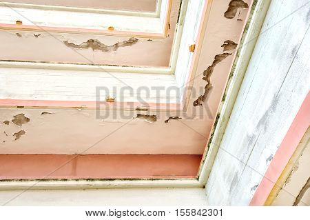 old plaster balcony ceiling building cracks condominium manteinance