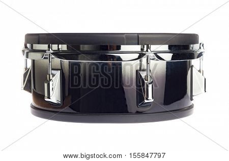 Electronic drum snare side view isolated on white